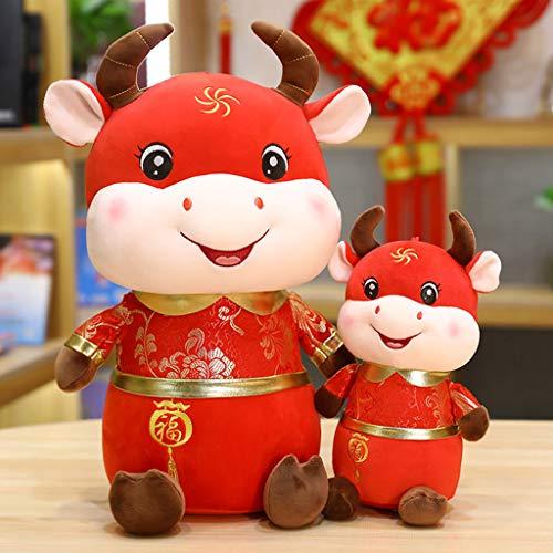 NAIXUE Juguete De Buey De Peluche De Buey De La Suerte De Buey De Peluche De Vaca China De Año Chino para El Año Chino Año Chino, Oficina En Casa, Fiesta De Coche, Decoraciones