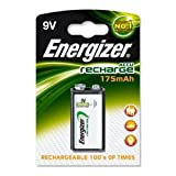 Energizer PP3 9v 175mAh HR22 Rechargeable Batteries Carded 1 by Energizer