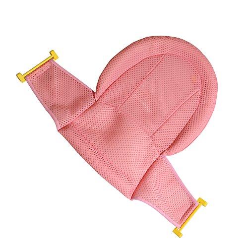 Asiento de apoyo Autbye, para bañera de bebé, malla de ducha para bañera de recién nacido, antideslizante ajustable y cómodo para bebés de 0 a 3 años rosa rosa