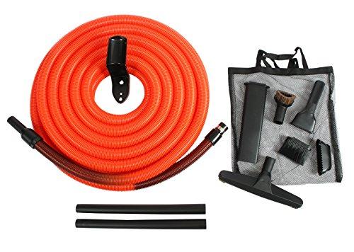 Cen-Tec Systems 93741 Central Vacuum Garage Attachment Kit with 50 ft. Hose, Black