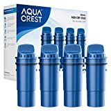 AQUACREST CRF-950Z NSF Certified Pitcher Water Filter, Replacement for Pur CRF950Z, DS-1800Z, PPT700W, PPF951K, CR-1100C, CR-6000C, PPT711W, PPT711, PPT710W, PPT111W and More Pur Pitchers (Pack of 4)