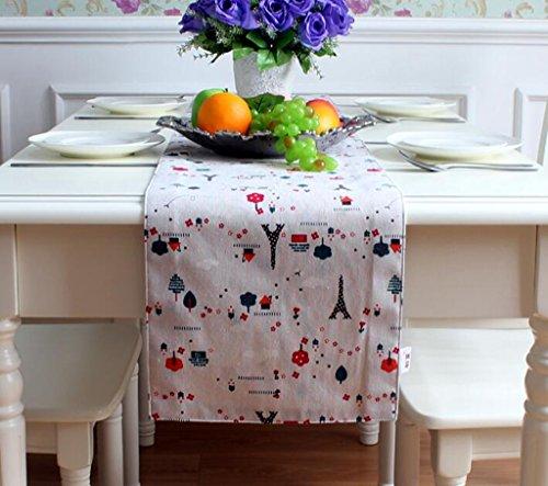 BiuTeFang tafelloper voor, antislip tafelkleden voor, binnen en buiten - voor keuken restaurant, hotel, café, terras, grootte: 30 * 160 cm