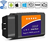 BANIGIPA Car WiFi OBD 2, Wireless OBD2 Car Code Reader Scan Tool, Scanner Adapter Check Engine Diagnostic Tool Fit Most Vehicles, Compatible with iOS Apple iPhone iPad Air Mini iPod Touch & Andorid