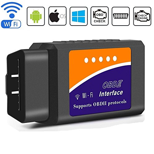 Windows Suitable For Most Cars Smaier OBD2 Auto Diagnostic Scanner iOS OBDII Bluetooth 4.0 Vehicle Engine Fault Code Reader Support all OBD2 Protocol Compatible With Android