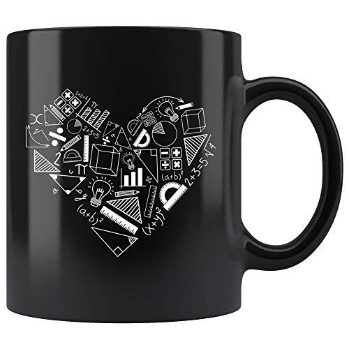 N\A aza de corazón de fórmulas matemáticas para Profesor de matemáticas, Regalo de Taza de café para matemático Orgulloso, Taza de té