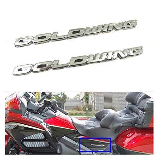 Anhuidsb GL 1800 3M ABS cubierta de la batería del emblema del carenado lateral de la etiqueta engomada del símbolo del logotipo de la marca Chrome Honda Goldwing GL1800 1 Par