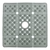 SlipX Solutions Extra Large Square Shower Mat, 27 x 27 Inches, Provides More Coverage & Non-Slip Traction (100...