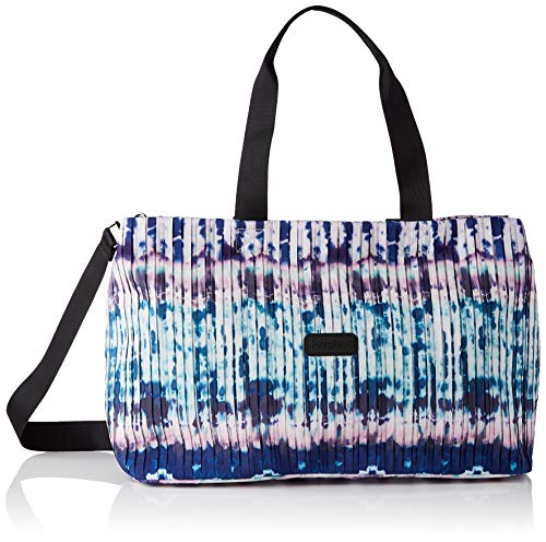 Desigual Woven Luggage, para Viajes. para Mujer, Azul, U