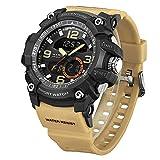 WEIDE Men Military Watch,Tactical Digital Quartz Sport Man Chronograph Watch Dress Wrist Watches for Men (Khaki)