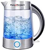 Pohl Schmitt 1.7L Electric Kettle with Upgraded Stainless Steel Filter, Inner Lid & Bottom, Glass...
