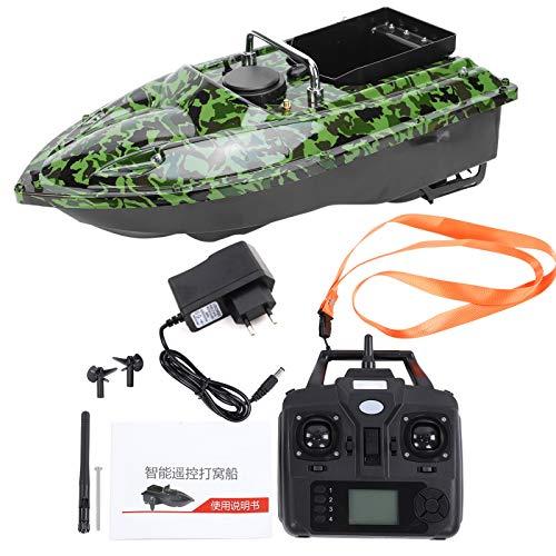 Fiskebåt RC, 500 m RC-båt Fjärrkontrollbåtar, 100-240V Fiskebete häckande båt, vattentät, beteskepp, höghastighets elektrisk RC-båt(EU Plug)