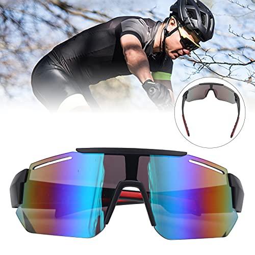 CUTULAMO Gafas de Sol de Ciclismo, Ciclismo Correr Gafas de conducción Lentes en Forma de Escudo Gafas de Sol Deportivas polarizadas Ciclismo Gafas de Moda para montañismo y Ciclismo
