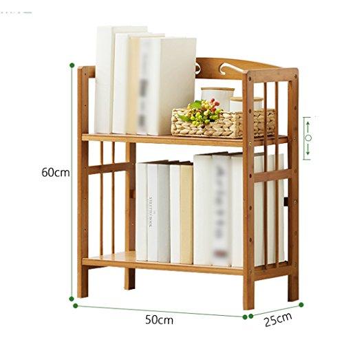 DNSJB bibliothèque pour Enfants à 2 Niveaux avec étagère en Bambou (Size : 50cm)