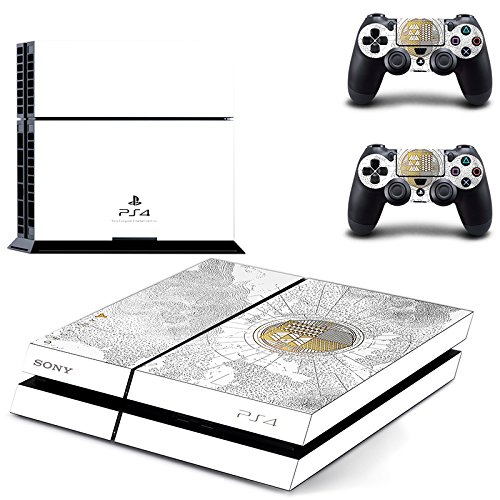 Adventure Games - Destiny, Limited Edition - Playstation 4 Vinyl Console Skin Decal Sticker + 2 Controller Skins Set - Compatible with PS4 ORIGINAL Gaming Console