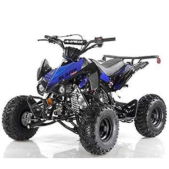 X-PRO 125cc ATV Quad 4 Wheeler ATVs 125cc Adults ATVs Quads Youth 4 Wheelers,Blue