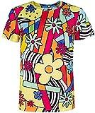 COSAVOROCK Disfraz de Camiseta con Flores Hippie para Hombre (XXL, Multicolor)