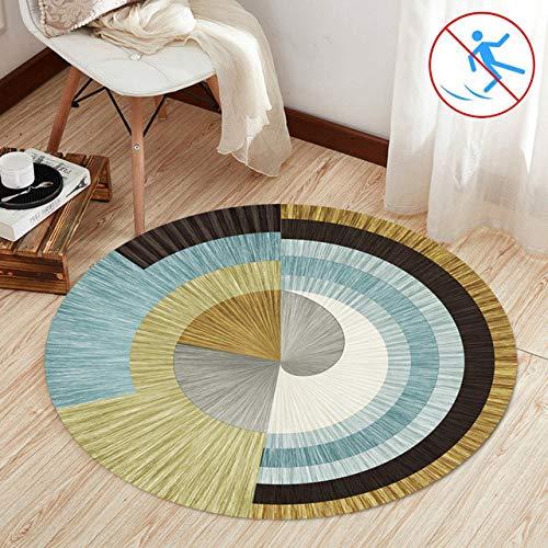 Teppiche Wohnzimmer Hochflor 50cm Rund Klein Teppich Robust Qualität 8 Stück Antirutschmatte für Teppich für Bettvorleger Schlafzimmer Outdoor