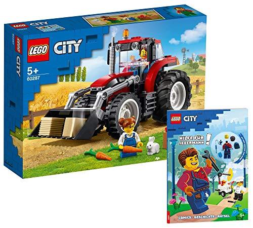Collectix Lego 60287 Lego City Traktor - Juego de cartas de Lego (cubierta blanda), diseño de tractor Lego