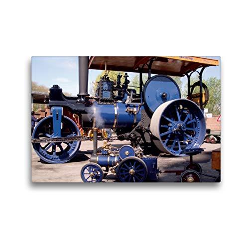 CALVENDO Premium Textil-Leinwand 45 x 30 cm Quer-Format Dampffahrzeuge, Leinwanddruck von Uwe Bernds