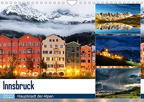 Innsbruck - Hauptstadt der AlpenAT-Version (Wandkalender 2022 DIN A4 quer)