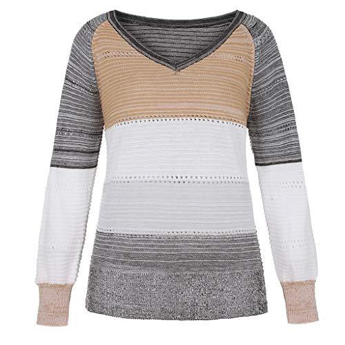 Berimaterry Jerséis de Punto mujer cómodos ropa otoño casual top Suéter de mujer Delgada de Acolchado de...
