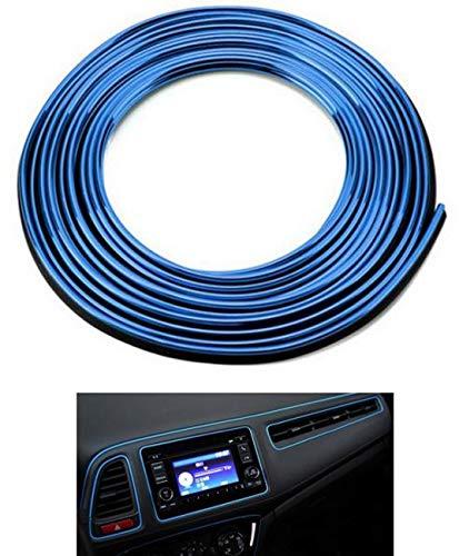 5M Blu Trim del cruscotto Accessori per auto Car Styling decorazione d'interni Strisce Modanatura tagliare Trim del bordo della porta