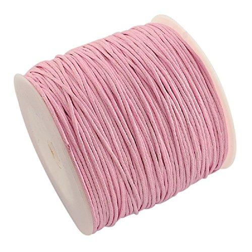 L'attrape-rêve cordon rose en coton ciré, épaisseur 1 mm, longueur 5 mètres livraison gratuite en france métropolitaine