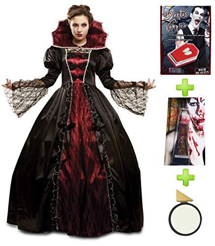 Disfraces Halloween Kostüm Vampir Deluxe-Set mit Charakterisierung