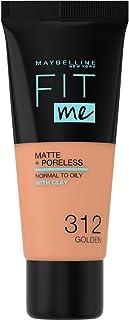 Maybelline New York Fit Me Matte & Poreless Foundation - 312 Golden