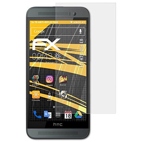 atFolix Panzerfolie kompatibel mit HTC One E8 Schutzfolie, entspiegelnde & stoßdämpfende FX Folie (3X)