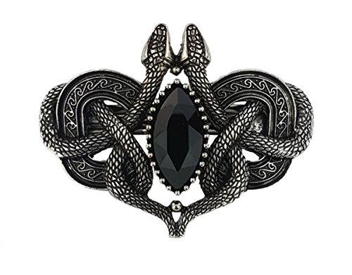 Dark Dreams Gothic Steampunk Mittelalter LARP Haarspange Haarschmuck Haarclip Hairclip Schlangen Snake altsilber