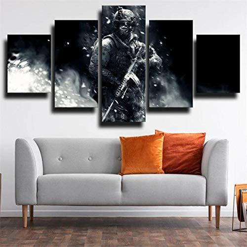 13Tdfc Cuadro En Lienzo 150X80Cm Personaje De Call Duty World At War Impresión De 5 Piezas Material Tejido No Tejido Impresión Artística Imagen Gráfica Decor Pared