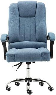 Chaise de jeu MHIBAX chaise d'ordinateur confortable, chaise de bureau en tissu, siège arrière inclinable patron chaise...