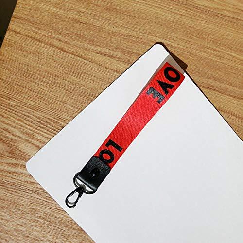 1PCS Key vlechten voor de belangrijkste hanger ring mannen vrouwen heuptas,kort rood