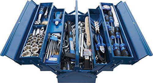 BGS 3306 | Metall-Werkzeugkoffer inkl Werkzeug-Sortiment | 137-tlg