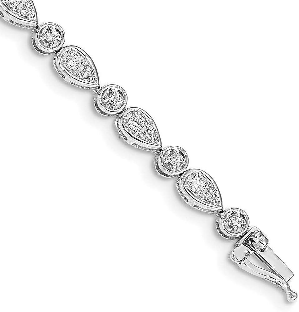 Bracelet 14K White Gold bracelet Jacksonville Mall Ranking TOP15 Diamonds Diamond 4 7 mm in