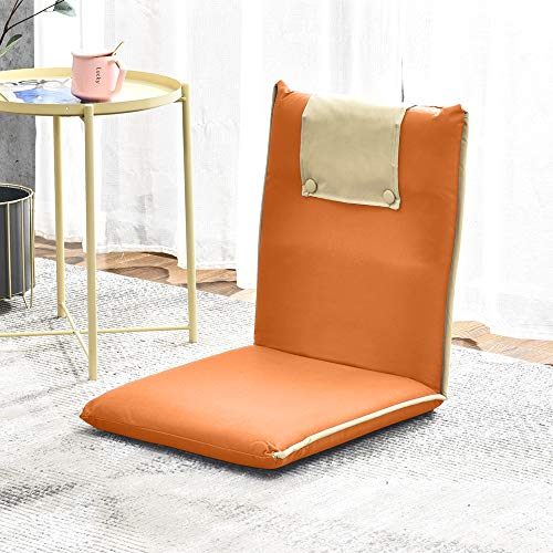 QIHANG-UK Adjustable Reading Chair, 5-Position Folding Lounger with Back...