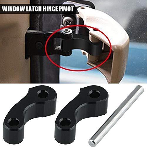 Window Latch Hinge Pivot for First Gen Tacoma Tundra Rear Quarter Window 1995-2004 Tundra 2000-2006 Xtracab 2pcs(black)