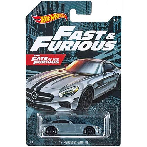 Hot Wheels GDG44 - Auswahl: Fast & Furious 7 (2020) - Fahrzeuge, Autos ('15 Mercedes AMG GT)