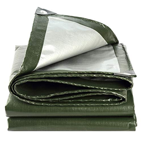 YJKDM Multifunctional tarpaulin, waterproof shed, heavy tarpaulin, with buttonholes, suitable for house/tent/boat/RV/pool/outdoor camping, size 5x5m/6x7m
