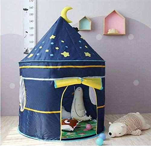OPNIGHDYMD Princess Castle Tent for Large Children Play House Princess Tent Girls Large Play House Kids Castle Play Tent,with stars string lights (Color : A)