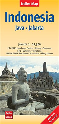 Nelles Map Landkarte Indonesia : Java, Jakarta: 1 : 750,000 / 1 : 22,500 | reiß- und wasserfest; waterproof and tear-resistant; indéchirable et imperméable; irrompible & impermeable