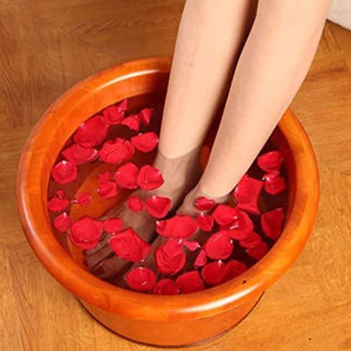 25cm Élevé Ménage Baril De Bain Chêne Pieds Baignoire En Bois Pied Baril Pied Féminin Seul Footbowl Bois Barrelsolid Pas De Couvercle, Ni Des Cadeaux (Color : Brown)