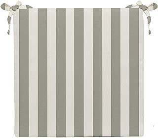 RSH Décor Set of 4 Indoor/Outdoor Grey Gray & White Cabana Stripe 2