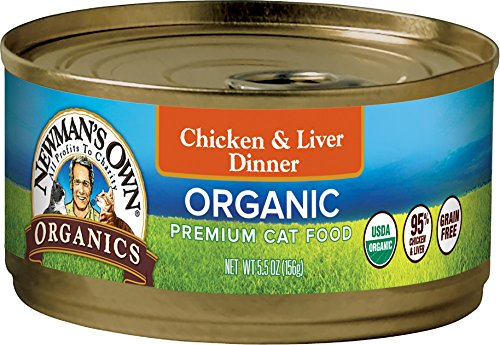 Newman'S Own Organics Grain-Free Canned Cat Food Chicken & Liver