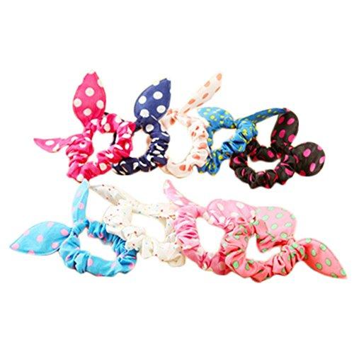 fitTek kanggest orecchie di coniglio Hairbands Polka Dot Elastico Hair Band Girls Headwear Accessori per capelli, colore: 61047.00) Un tamaño vari colori