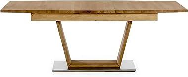 Marque Amazon -Alkove - Hayes - Table à rallonges en bois massif, 205cm, Chêne sauvage