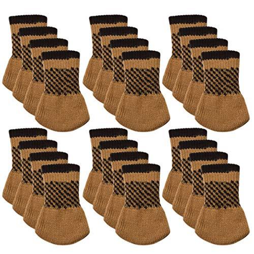 KUNSE 24 Stks/Set Stoel Been Sokken Meubilair Cover Breien Sock Sets Vloerbeschermer Tafel Stoel Been Cap