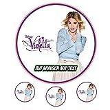 Tortenaufleger Geburtstag Tortenbild Zuckerbild Oblate Motiv: Disney Violetta 02