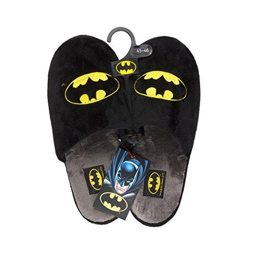 soxo Batman Zapatillas de Casa para Hombre | Talla 43-44 | Cómodas Babuchas Afelpadas | Suela Flexible Antideslizante